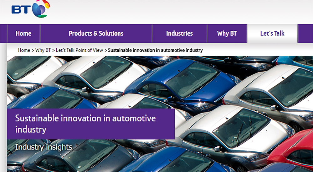 Sustainable innovation in automotive manufacturing and urban mobility
