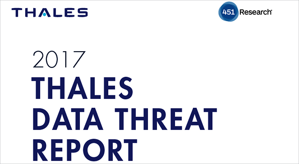 Data protection considered last in security priority, 2017 Thales Data Threat Report