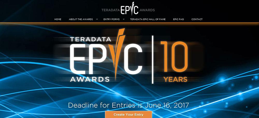 Call for entries: Teradata 2017 EPIC Awards open