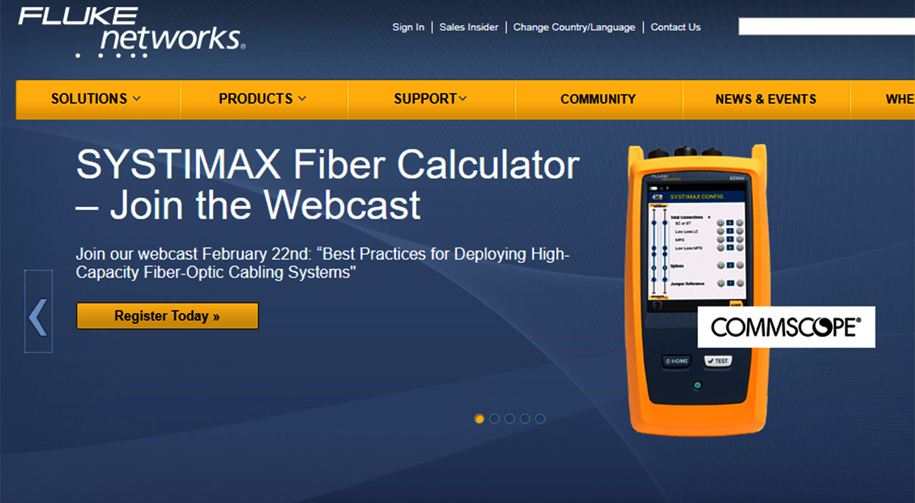 CommScope partners with Fluke Networks for optical fibre certification